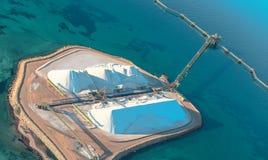 Salt terminal at Shark Bay stock images