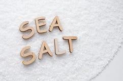 Salt textur för hav Arkivfoton