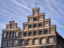 Salt trader's house in Lueneburg, Germany. House of a rich merchant in Lueneburg, Northern Germany royalty free stock photography