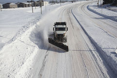 Snow Plow head on Stock Photos