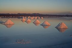 salt uyuni för bolivia lake Arkivfoton