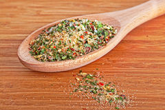 Salt with various herbs Stock Photo
