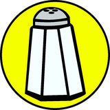 Salt vector illustration. Vector illustration of a salt container Royalty Free Stock Image