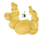 Salt & vinegar flavored chips Stock Photo