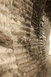 Salt walls in the miners corridors deep undeground - Wieliczka S Stock Images