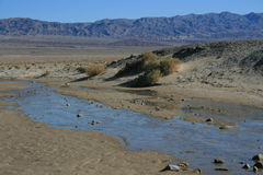 Salt Water Creek, Death Valley Stock Image