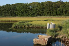 Salt Water Marsh Structures Stock Photos