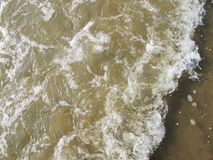 Salt Water, Soft Beach Waves in Asia.  royalty free stock image