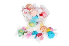 Salt water taffy in a bowl Stock Photography
