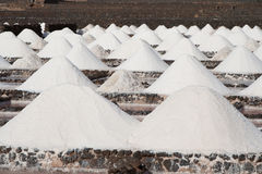 Salt will be produced in the old historic saline Stock Photos