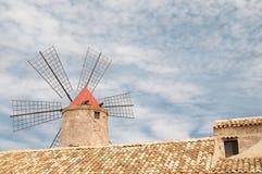 Salt windmill Stock Images