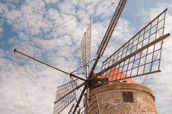 Salt windmill Royalty Free Stock Photo