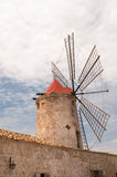 Salt windmill Stock Image