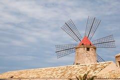 Salt windmill Stock Photos
