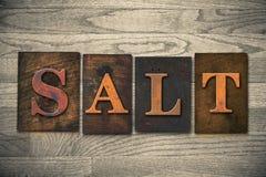 Salt Wooden Letterpress Theme Royalty Free Stock Photo