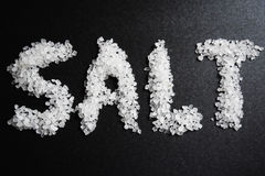 SALT. The word Salt written in salt Royalty Free Stock Photography