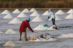 Salt worker Stock Photo