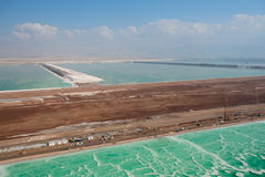 Salt works on Dead sea Stock Photography
