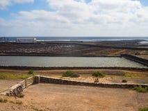 Salt works of Fuerteventura, Canary Islands Stock Photo