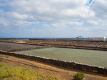 Salt works of Fuerteventura, Canary Islands Royalty Free Stock Image