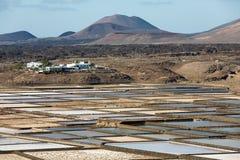 Salt works of Janubio, Lanzarote Royalty Free Stock Photos