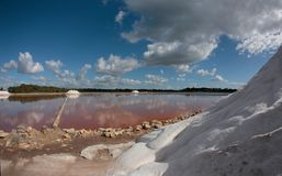 Salt works in mallorca Stock Photo