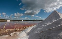 Salt works in mallorca Royalty Free Stock Images