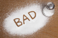 Salt written on counter Royalty Free Stock Photos