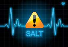 SALT - written on heart rate monitor Royalty Free Stock Photography