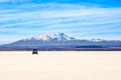 Salta öknen, Uyuni, Bolivia Arkivfoton
