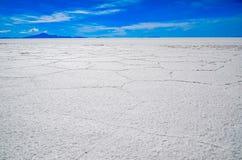Salta öknen, Uyuni, Bolivia Royaltyfri Foto