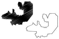 Salta översiktsvektor royaltyfri illustrationer