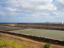 Salta arbeten av Fuerteventura, kanariefågelöar Royaltyfri Bild