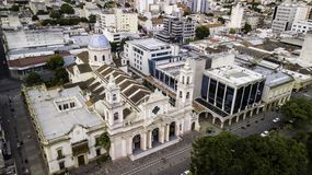 Salta/Salta/Argentina - 01 01 19: Archidiócesis de Salta Catedral adornada del siglo XIX argentina fotografía de archivo libre de regalías