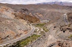 Salta Argentine de l'itinéraire 51 Photo libre de droits