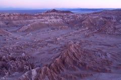 Salta bildande på Valle de laLuna spanjor för månedalen, vet också som Cordillera de la Sal spanjor för Salt bergskedja royaltyfri foto