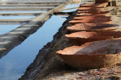 Salta forntida lera för FN royaltyfri fotografi