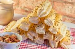 Salta kakastänger med bacon Royaltyfri Bild
