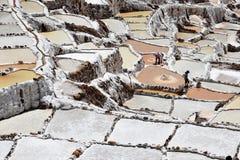 Salta lägenheter i Maras, Peru Royaltyfria Foton