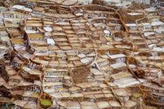 Salta miner Salinas de Maras Royaltyfri Foto