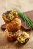 Salta muffin med kryddor Royaltyfria Foton