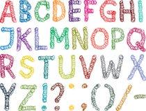 Salta o alfabeto ilustração stock
