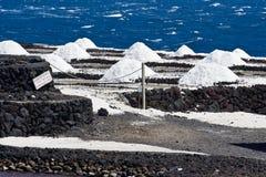 Salta pannor av Fuencaliente, den LaPalma ön Royaltyfri Foto