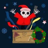 Salta a Santa Claus asustadiza stock de ilustración