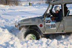 SALTAC-KOREM ROSJA, LUTY, - 11, 2018: Zimy auto przedstawienia modif zdjęcie stock
