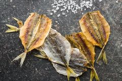saltad torkad fisk Royaltyfri Foto
