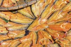 saltad torkad fisk arkivfoton