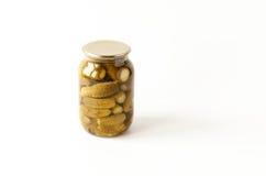 saltade gurkor Fotografering för Bildbyråer