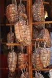 saltade kurerade meats royaltyfria foton