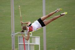 Saltador de poste Fotografía de archivo